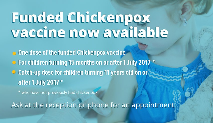funded chickenpox vaccine now available
